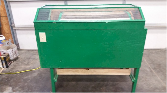 bean and pea sheller front