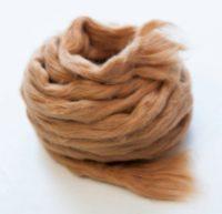 Brown cotton fiber