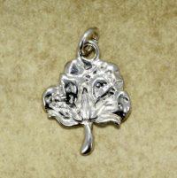 silver cotton boll charm